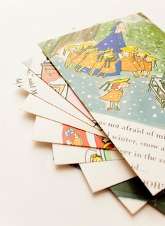 envelopes from book pages