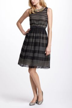 Striped Tulle Dress - Anthropologie.com