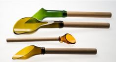 Re-purposed Wine Bottle Serving Utensils