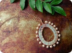 Copper Wire Wrapped Bridal Pendant