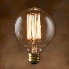 Amazon.com: 40-Watt Nostalgic G30 Edison Globe Thread Filament Style (Set of 12): Home Improvement