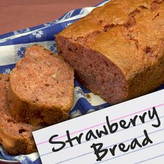 strawberri bread, recipes for diabetic