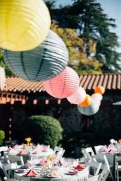 Colorful & Modern Garden Wedding