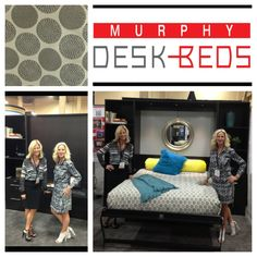 Day 2 of HD Expo 2013 in Las Vegas. Bedding was designed and custom made by Murphy Bed Concepts, Inc.