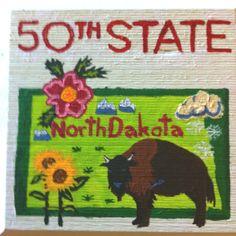 Brian Hoffman completed visiting all 50 states - North Dakota rocks!!!!