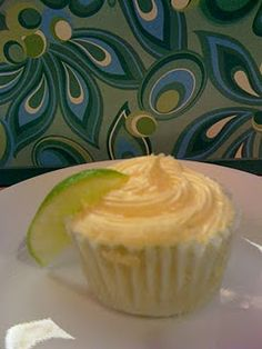 Margarita Cupcakes :) Non-alcoholic and super limey, just the way I like it