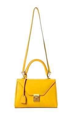 Mark Cross - Yellow Small Scottie Crossbody - Preorder on Moda Operandi