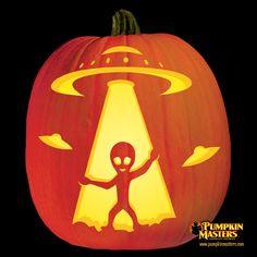 Pumpkins on pinterest pumpkin carvings pumpkins and for Alien pumpkin pattern
