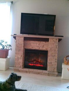 A beautiful Featherston mantel, and a very cute dog!