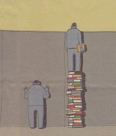 Twitter / farnamstreet: Reading helps you see further. Great to share with the older students.