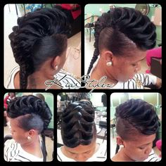Fish tail quick weave -- I think I might try this style some day. Oh this my next dooooooo