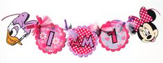 Minnie Mouse and Daisy Duck Theme I Am 1 by ScrapsToRemember, $15.00