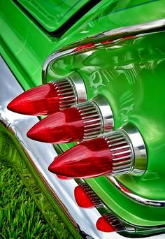 tail lights, clovers, chevrolet, color, brides, 1958 impala, industrial design, beauti ride, bullets