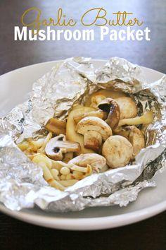 Garlic Butter Mushroom Packet #MeatlessMonday #mushrooms