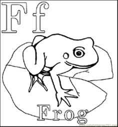Frogs ponds on pinterest for Froggy coloring pages jonathan london