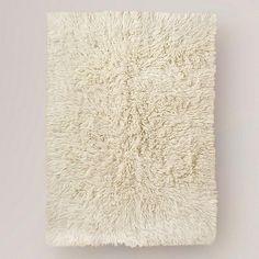Flokati Wool Rug, Ivory
