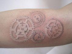 white ink tattoo   Tumblr