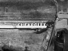 Black n White Old Chevrolet Chrome model name by NewMexicoMtnGirl