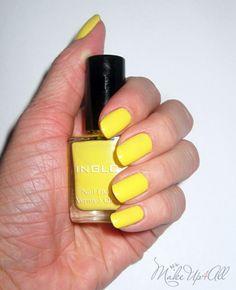 Nails Of The Day Inglot 722 Yellow Nail Polish