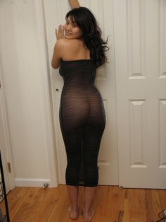 Tight see thru dress