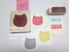 owl carved stamps