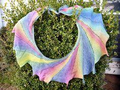 Ravelry: onehotbeader's Angel Wingspan, by Machine in Moda Vera Fern - colour rainbow.