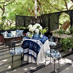 Treetop Terrace - 25 Bright Ideas for Outdoor Dining | Southern Living