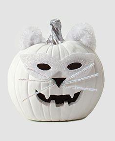 White Jack O' Lantern Cat