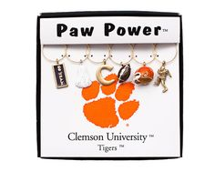 Clemson Wine Charm Set  #Clemson #ClemsonTigers #ClemsonUniversity #Tigers #CU