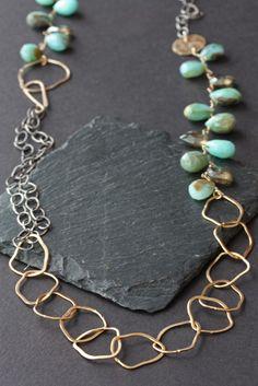 peruvian blue opal necklace,
