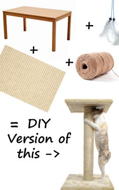 DIY Cat Scratch Tower. http://www.idealhomegarden.com/holidays-crafts/diy-cat-scratch-towers/