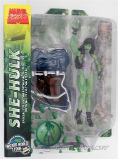 She-Hulk  Marvel Select 2005 Figures - 2005  /// Pinned by: Marvelicious Toys - The Marvel Universe Toy & Collectibles Podcast [ www.MarveliciousToys.com ] marvelici toy, univers toy