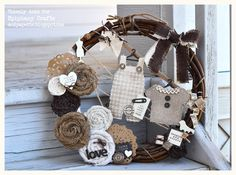 Amazing wreath created by @Thienly Azim from #Epiphany Crafts! http://epiphanycrafts.com/hello-there-maya-road-welcome-to-epiphany-crafts/#comments