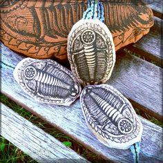 Trilobite Chai Scent Sachet  Fun Fossil Mini Pillow by TRILODEON, $7.00