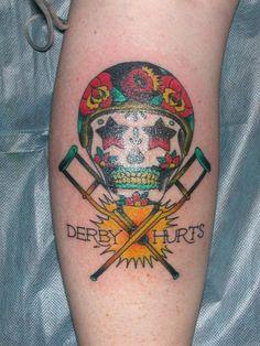 Derby Hurts tattoo idea, tattoo lover, tattoo chronicl, derbi tattoo