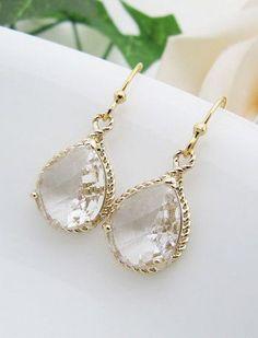 SET of 5 Bridal Earrings Bridesmaid by earringsnation