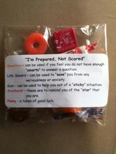 EOG and TESTING treat bags
