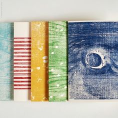 Handprinted woodblock cards by Heather Smith Jones