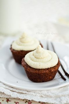 Delightfully inviting Carrot and Mascarpone Cupcakes. #cooking #food #beautiful #baking #dessert #cupcakes #carrots #mascarpone