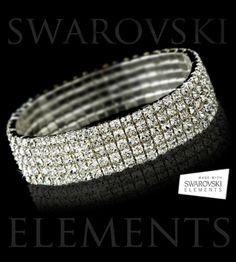 5 Tier Bracelet - Austrian Swarovski Elements Crystals - Save 89% only $22