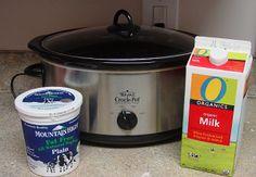 DIY yogurt in crock pot