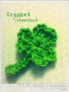 Crochet Shamrock - free pattern