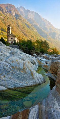 Lavertezzo in Ticino, Switzerland • photo: Thierry Hennet on Flickr