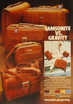 Samsonite ad from the mid 70s