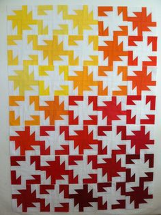 Sparkler quilt in warm colors by Awesome Sauce Quilts