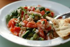 jerusalem salad, houston style, salads