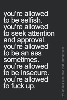 You're allowed.