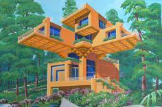 Birdnest Riverside Guesthouse … Bjarke Ingels meets Frank Lloyd Wright.