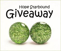 Stud Earrings #Giveaway by Hope Starbound! Enter to win prize by April 5, 2013 at 11:59pm EST. style, peri resin, resin jewelri, stud earrings, earring giveaway, glitter earring, jewelri peridot