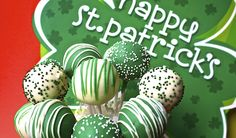 spring green - st patrick's day cake pop bouquet holiday, galleries, cakes, green, bouquets, cake pops, st patricks day, irish, stpatrick